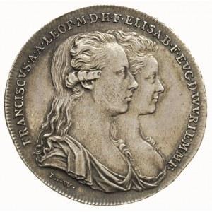 żeton 1788, wybity z okazji ślubu Franciszka II Habsbur...