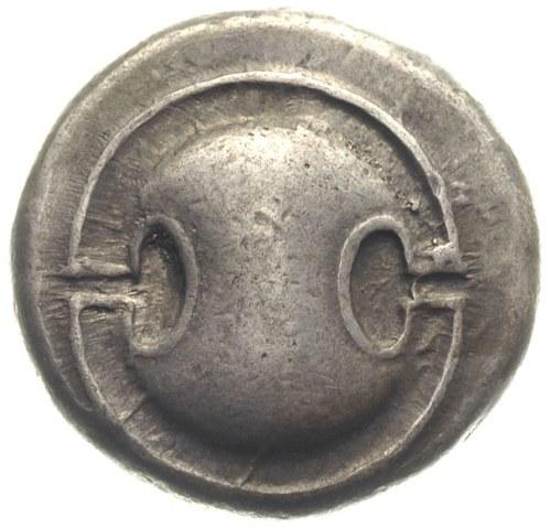 Beocja, Teby, stater 387-374 pne, Aw: Tarcza beocka, Rw...