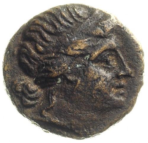 Tracja, Mesambria, brąz 350-250 pne, Aw: Głowa Ateny w ...
