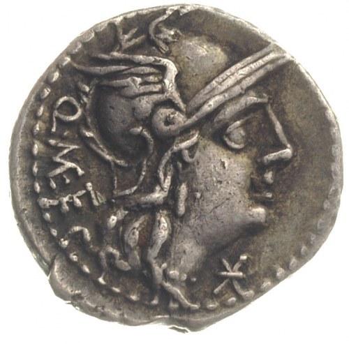 Q. Caecilius Metellus 130 pne, denar, Rzym, Aw: Głowa R...