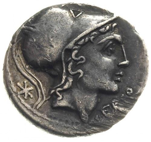Q. Lutatius  Cerco Q. 109/108 pne, denar, Rzym, Aw: Gło...