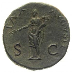 Wespazjan 69-79, sestercja 71, Rzym, Aw: Popiersie cesa...