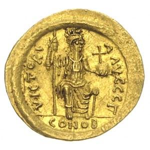 Justyn II 565-578, solidus 565-578, Konstantynopol, Aw:...