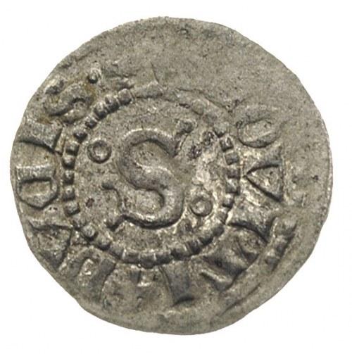 Siemowit IV 1374-1425, trzeciak, Płock, Aw: Litera S z ...