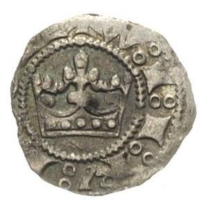 Wacław II 1300-1305, parwus praski, Aw: Korona i napis ...