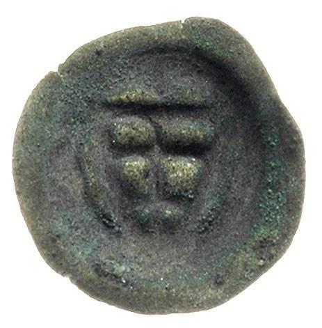 brakteat ok. 1307-1318, Tarcza z krzyżem podwójnym, 0.2...