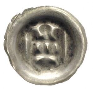 brakteat ok. 1327-1338, Brama wieńczona kulkami, w bram...
