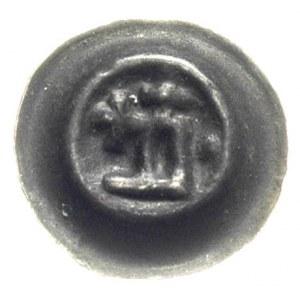 brakteat ok. 1345-1353, Prostokąt w kształcie litery D,...