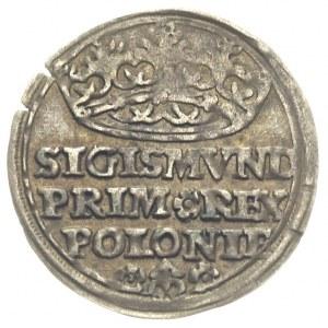 grosz 1528, Kraków, ładnie zachowany, patyna