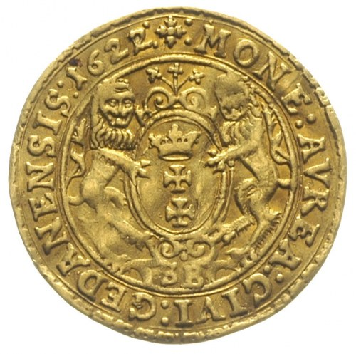 dukat 1622, Gdańsk, Aw: Popiersie króla i napis wokoło,...