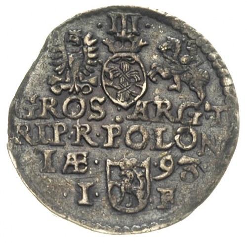 trojak 1593, Olkusz, bez znaku menniczego, Iger O.93.4....