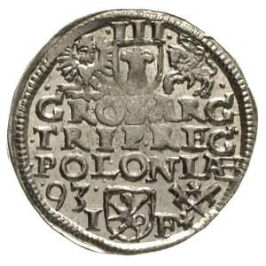 trojak 1593, Poznań, Iger P.93.1.a, ładnie zachowany
