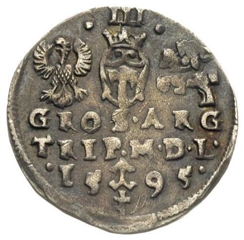 trojak 1595, Wilno, herb Prus na dole rewersu, Iger V.9...