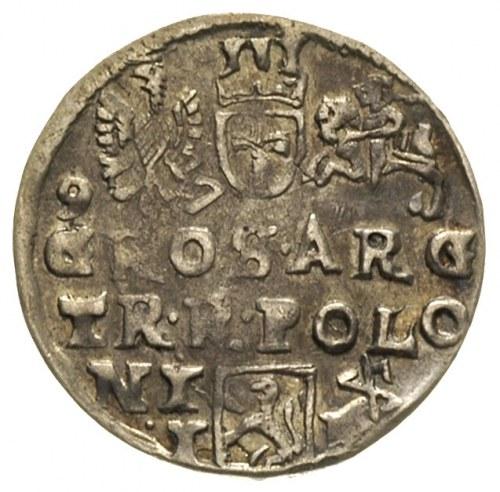 trojak 1597, Lublin, skrócona data po bokach Orła i zna...