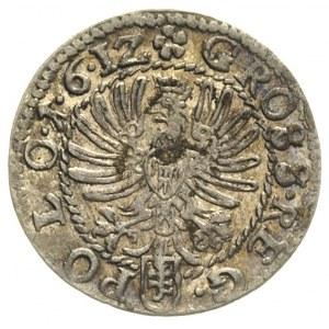 grosz koronny 1612, Kraków, delikatna patyna