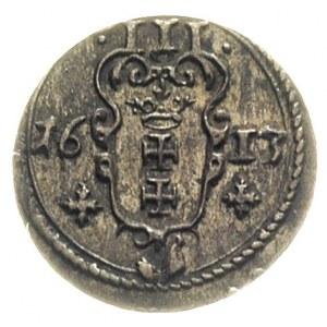 trzeciak 1613, Gdańsk, wyśmienity stan zachowania, bard...