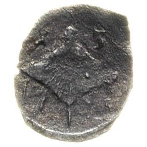 denar 1613, Łobżenica, na awersie herb Bróg i końcówka ...
