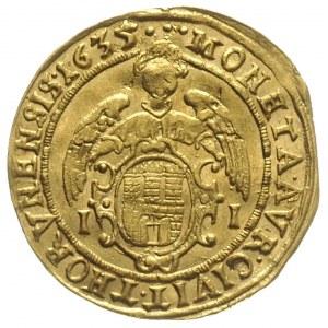 dukat 1635, Toruń, Aw: Popiersie króla i napis wokoło V...