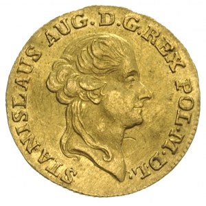 dukat 1788, Warszawa, Aw: Głowa króla w prawo, napis wo...