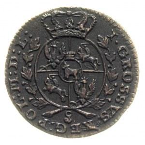 grosz 1767, Warszawa, Plage 86, bardzo ładny egzemplarz