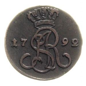 grosz 1792, Warszawa, litery EB, Plage 183
