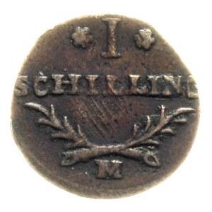 szeląg 1812, Gdańsk, Plage 47, patyna