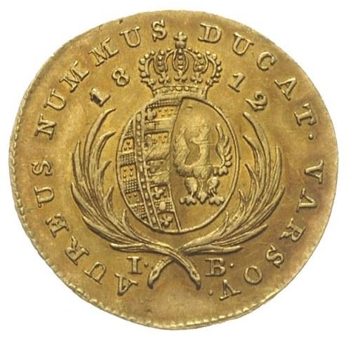 dukat 1812, Warszawa, złoto 3.49, Plage 117, Fr. 68, rz...
