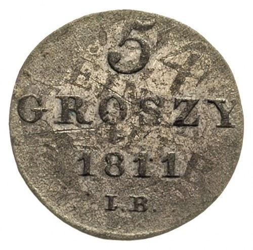 5 groszy 1811, Warszawa, litery IB, przebitka z 1/24 ta...