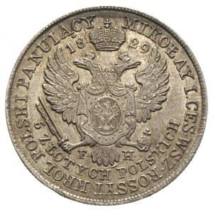 5 złotych 1829, Warszawa, Plage 37, Bitkin 985, patyna