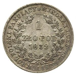 1 złoty 1832, Warszawa, Plage 77, Bitkin 1003