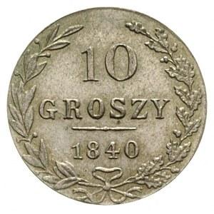 10 groszy 1840, Warszawa, Plage 104, Bitkin 1182, piękn...