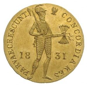 dukat 1831, Warszawa, kropka przed pochodnią, złoto 3.4...