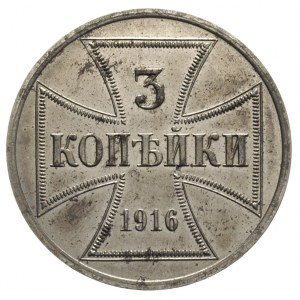 3 kopiejki 1916 / A, Berlin, Parchimowicz -, J. -, mone...