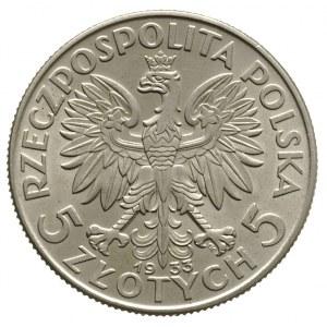 5 złotych 1933, Warszawa, Głowa kobiety, Parchimowicz 1...