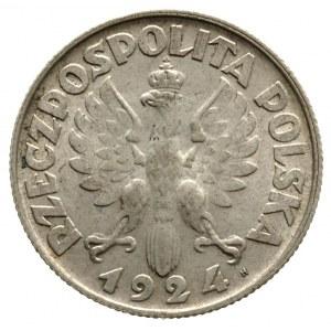 2 złote 1924, Birmingham, litera H po dacie, Parchimowi...