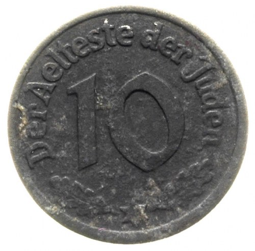 10 fenigów 1942, Łódź, magnez 0.9753 g, Parchimowicz P-...