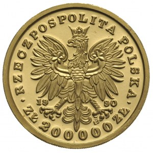 200.000 złotych 1990, Solidarity Mint USA, Tadeusz Kośc...