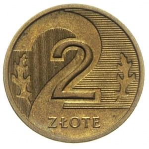 2 złote 2006, Warszawa, błąd wybicia -bez krążka wewnęt...