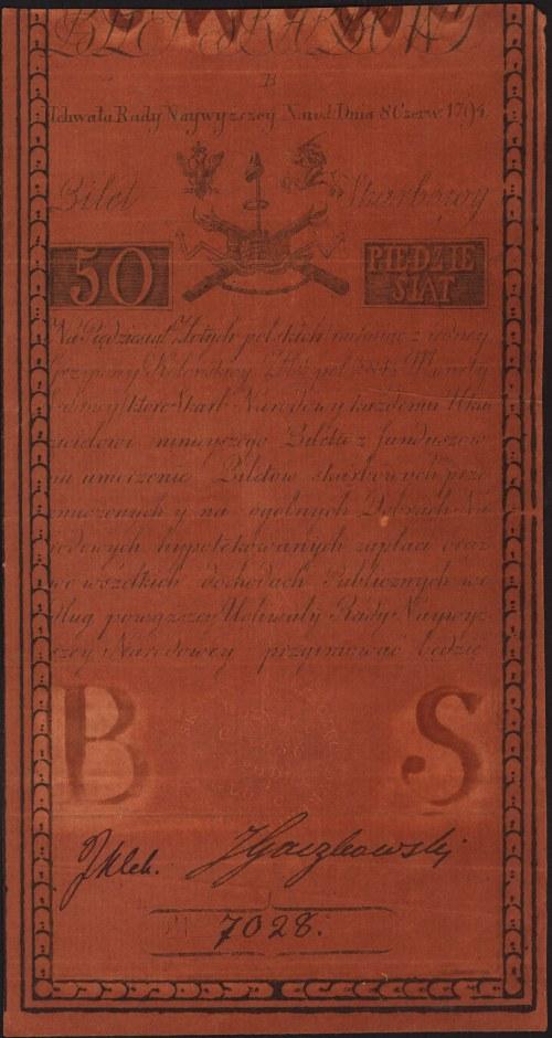 50 złotych polskich 8.06.1794, seria B, Miłczak A4, Luc...