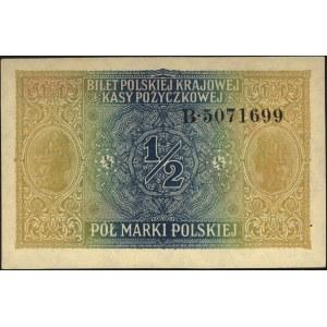 1/2 marki polskiej 9.12.1916, \Generał, seria B