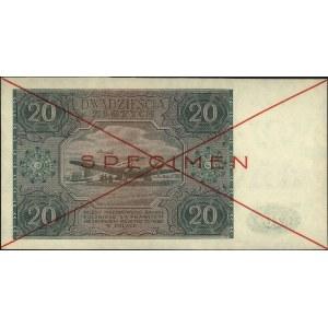 20 złotych 15.05.1946, seria A 1234567, czerwony nadruk...