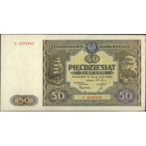 50 złotych 15.05.1946, seria C, Miłczak 128a