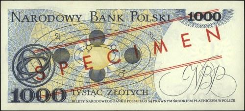 1.000 złotych 2.07.1975, seria AK 0000011, czerwony nad...