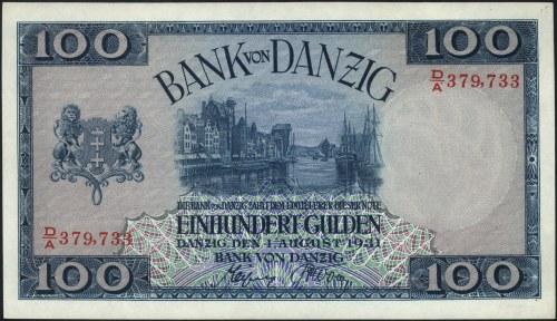 100 guldenów 1.08.1931, seria D/A, Miłczak G50b, Ros. 8...