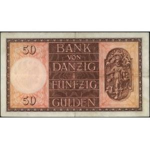 50 guldenów 5.02.1937, seria H, Miłczak G52, Ros. 843, ...