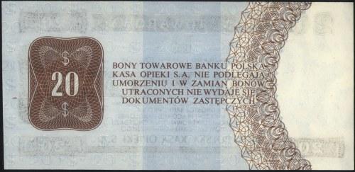 Bon Towarowy PKO SA, 20 dolarów 1.10.2010, seria HH, Mi...