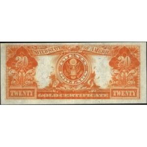 20 dolarów 1922, Gold Certificate, podpisy Speelman i W...