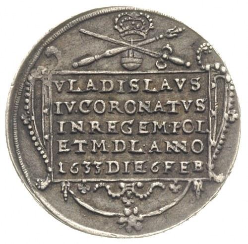 Władysław IV, medal koronacyjny (żeton) 1633 r., Aw: W ...