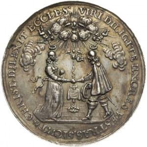 Jan II Kazimierz, zaślubinowy medal autorstwa Johanna H...