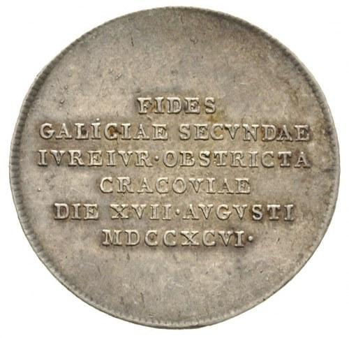 Franciszek II, żeton 1796, wybity z okazji złożenia prz...